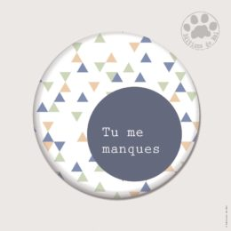 CH41 — Claire Hennen- Cartes à graines, magnets, badges, cartes, — Magnets ronds 5.6 cm