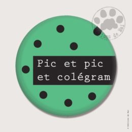 BP17 — Claire Hennen- Cartes à graines, magnets, badges, cartes, — Badges 38 mm