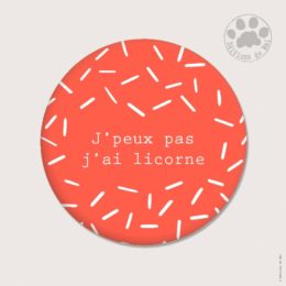 CH51 — Claire Hennen- Cartes à graines, magnets, badges, cartes, — Magnets ronds 5.6 cm