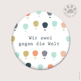 WAH18 — Claire Hennen — Magnets ronds 5.6 cm English/German
