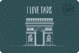 PH20 — Claire Hennen — Collection Paris -Carte avec DORURE