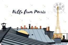 PH22 — Claire Hennen — Collection Paris -Carte avec DORURE