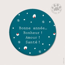 CH 101 MAGNETS RONDS 5.6 CM SOFT TOUCH — Claire Hennen- Cartes à graines, magnets, badges, cartes, — COLLECTIONS DE NOEL