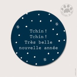 CH 102 MAGNETS RONDS 5.6 CM SOFT TOUCH — Claire Hennen- Cartes à graines, magnets, badges, cartes, — COLLECTIONS DE NOEL