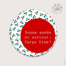 CH 104 MAGNETS RONDS 5.6 CM SOFT TOUCH — Claire Hennen- Cartes à graines, magnets, badges, cartes, — COLLECTIONS DE NOEL