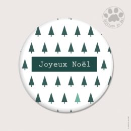 CH 106 MAGNETS RONDS 5.6 CM SOFT TOUCH — Claire Hennen- Cartes à graines, magnets, badges, cartes, — COLLECTIONS DE NOEL