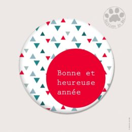 CH 108 MAGNETS RONDS 5.6 CM SOFT TOUCH — Claire Hennen- Cartes à graines, magnets, badges, cartes, — COLLECTIONS DE NOEL